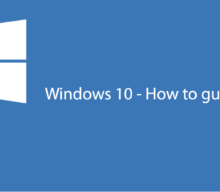 Customising Windows 10 – Creating an account