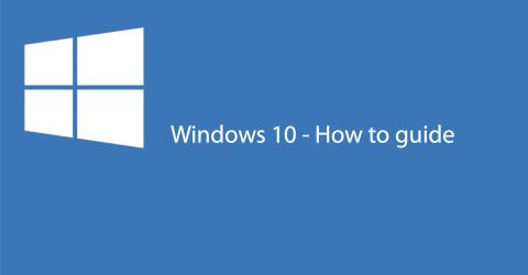 Customising Windows 10 – Creating an account